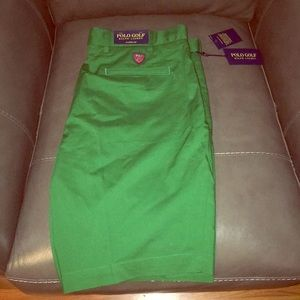 Brand New Polo Golf Green Chino Shorts $75msrp